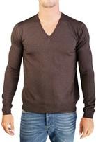 Prada Men's Virgin Wool V-neck Sweater Brown.