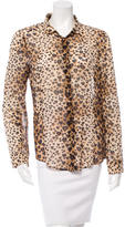 RED Valentino Silk Leopard Print Top w/ Tags