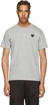 Comme des Garcons Grey & Black Heart Patch T-Shirt