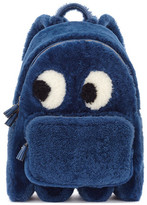 Anya Hindmarch BACKPACK MINI GHOST IN BLUEBERRY SHEARLING