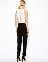 Asos Jumpsuit with Chic Racer Detail in Monochrome