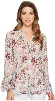 KUT from the Kloth Gilda Double Ruffle Shirt Women's Long Sleeve Button Up