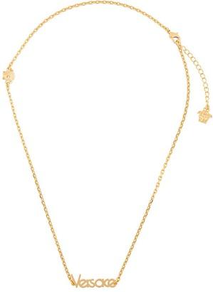 Versace dainty logo necklace