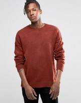 Asos Jumper With Burst Seams