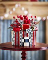 Mackenzie Childs MacKenzie-Childs Tartan Frost Hat Box Holiday Decor