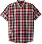 Arrow Men's Big and Tall Short Sleeve Madras Shirt