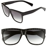 Alexander McQueen 55mm Retro Sunglasses