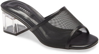 Topshop Dusty Block Heel Slide Sandal