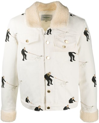 Casablanca Dalmatian-Print Sherpa Jacket