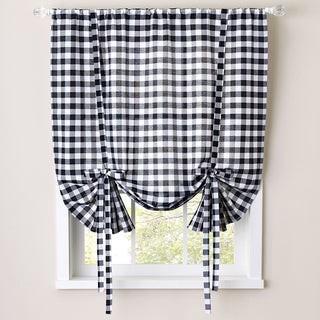Bed Bath N More Buffalo Check Decorative Tie-Up Shade