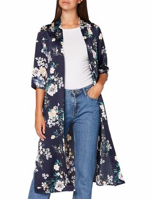 Yumi Women's Floral Print Long Kimono Shirt