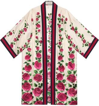 Gucci Rose Garden print silk kimono