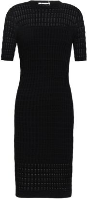 Alexander Wang Paneled Pointelle And Ribbed-knit Dress