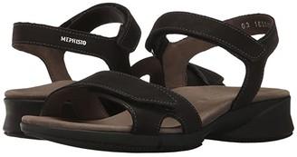 Mephisto Francesca (Black Bucksoft) Women's Sandals