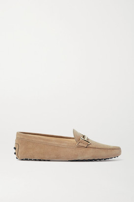 Tod's Gommino Suede Loafers - Beige