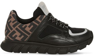 Fendi Neoprene & Leather Lace-up Sneakers