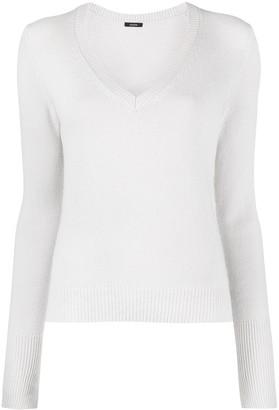 Joseph fine-knit V-neck jumper
