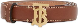 Burberry Leather TB Monogram Belt