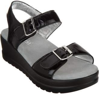 Alegria Leather Multi Strap Wedge Sandals - Morgyn