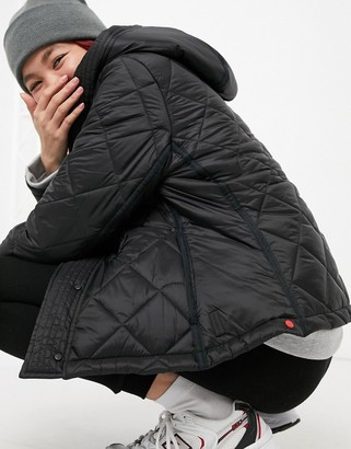 Hunter refined quilted jacket in black