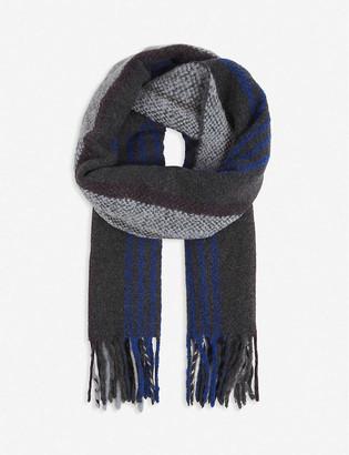 Paul Smith Striped wool-alpaca blend scarf
