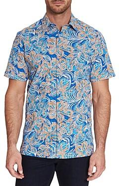 Robert Graham City Limits Cotton-Blend Seersucker Floral Print Classic Fit Button-Up Shirt