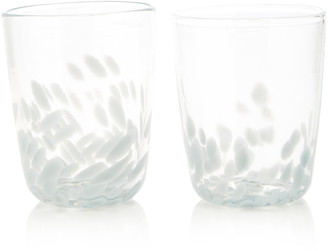 Paul Arnhold Glass Set-Of-Two Glass Tumblers