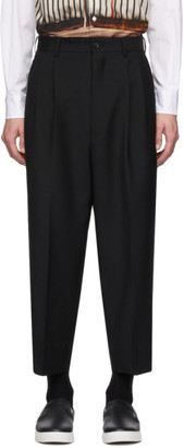 Comme des Garçons Homme Black Tropical Wool and Mohair Trousers