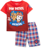 Children's Apparel Network PAW Patrol Red Nick Tee & Shorts - Toddler