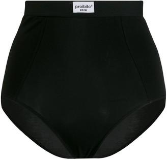 MSGM Proibito high-waist briefs