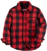 Carter's Toddler Boy Red Plaid Button-Front Shirt