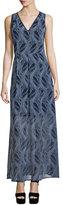 MICHAEL Michael Kors Burrel A-Line Maxi Dress, New Navy