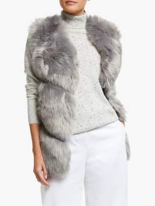 Marella Veneto Faux Fur Gilet, Grey