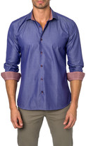 Jared Lang Contrast Trim Semi-Fitted Shirt