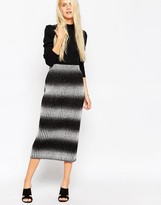 Asos Midi Skirt in Chunky Knitted Rib