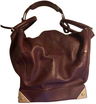Alexander Wang Emile Burgundy Leather Handbags