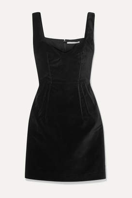 Emilia Wickstead Judita Cotton-velvet Mini Dress - Black