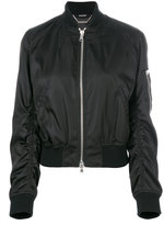 Alexander McQueen ruched bomber jacket