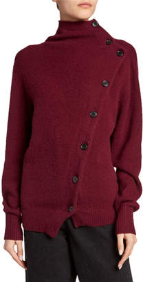 Isabel Marant Cashmere Asymmetric Button-Front Sweater