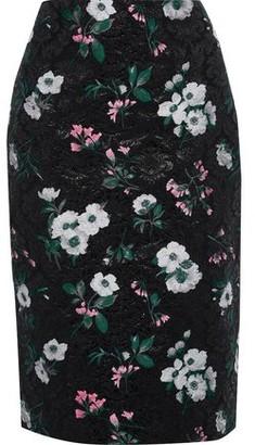 Prabal Gurung Metallic Floral-jacquard Pencil Skirt