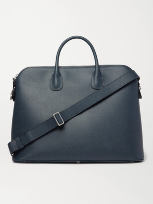 Valextra My Logo Pebble-Grain Leather Briefcase