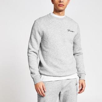 River Island Prolific grey slim fit sweatshirt