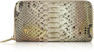Ghibli Python Leather Zip Around Continental Wallet