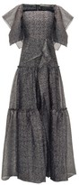 Roland Mouret Rogers Draped Tiered Gown - Womens - Silver Multi