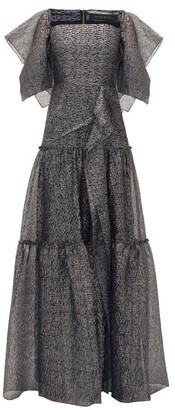 Roland Mouret Rogers Draped Tiered Gown - Silver Multi