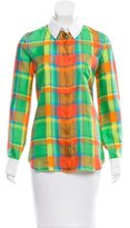 Altuzarra Plaid Long Sleeve Top