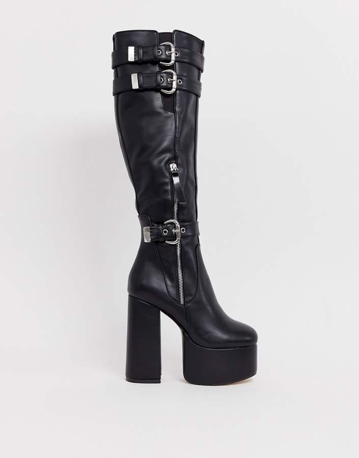 6be62bc5fb93 Chunky Black Platform Shoes - ShopStyle