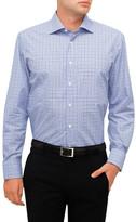 Canali Check Contrast Trim Shirt