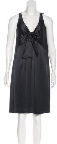 Andrew Gn Silk Knee-Length Dress w/ Tags