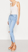 Esprit High-waisted jeans with hem zips